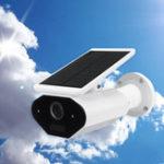 Оригинал Солнечная Powered Wireless WiFi 1080P IP камера Водонепроницаемы 143 ° Угол Ночной Везион Двухсторонний Домофон