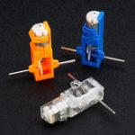 Оригинал 1:28 Прозрачная / Синяя / Оранжевая Шестиугольная ось 130 Мотор Коробка передач для DIY Шасси Авто Модель