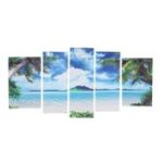 Оригинал 5Pcs Unframed Canvas Paint Seascape Пляжный Картины Современный декор домашнего интерьера