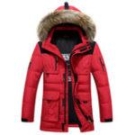 Оригинал Mens Winter Толстый теплый ветрозащитный вниз куртка На открытом воздухе Parka