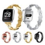 Оригинал KALOAD 175×15 мм из нержавеющей стали Smart Watch Стандарты Замена ремешка для часов Fitbit Versa
