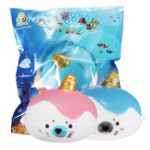 Оригинал Sanqi Elan Squishy Kawaii Sea Lion Мини-медленно растущее животное с оригинальным пакетом