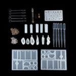 Оригинал 77Pcs Отливка из формы для литья под давлением Набор Силиконовый Изготовление ювелирных изделий Кулон Craft DIY Set