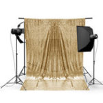Оригинал 4x6FT Золото Shimmer Sequin Фотография Фон Студия Prop Background