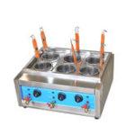 Оригинал Коммерческая 4кВт / 6кВт настольная 4/6 корзина электрическая лапша плита / машина для приготовления макарон