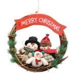 Оригинал РождественскийРотанговыйВенокНастенныеУкрашенияДвери Дед Мороз Снеговик Медведь