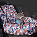 Оригинал КамуфляжнаяклеткаАвтоCopilotSeatPet Mat Сумка Дорожное сиденье Собака Protector Автоrier Подушка для подушки