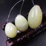 Оригинал 3 Шт. Нефритовый Камень Вагинальные Шарики Йонис Яйца Для Упражнений Мышц Таза Украшения Подарок