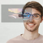 Оригинал JJRCFPV-0035.8GHz40CHПолнаячастота Стандарты Автоматический поиск FPV Goggles Monocular Очки C Батарея