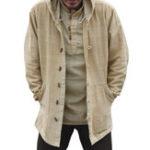 Оригинал Мужская Винтаж китайский стиль хлопок с капюшоном Plus размер пальто