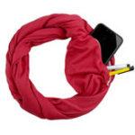 Оригинал Unisex Winter Multipurpose Винтаж Шарф с карманом на молнии