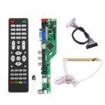 Оригинал T.RD8503.03 Универсальный LCD LED Плата драйвера ТВ-контроллера ТВ / ПК / VGA / HDMI / USB + 7-клавишная кнопка + 2-канальный 8-битный 30 LVDS кабель