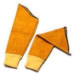 Оригинал 1 пара сварочных рукавов из коровьей кожи с эластичным Манжеты сшитым сварщиком Перчатки