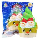 Оригинал Sanqi Elan Squishy Christmas Ice Cream Медленная растущая игрушка с оригинальным пакетом