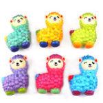Оригинал 10.5 * 7.5cm Squishy Alpaca Случайный цвет Soft Медленная восходящая игрушка с упаковкой Сумка