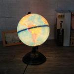 Оригинал 8 дюймов 110 В LED Карта Мира Globe Night Light Домашний Офис Комната Декор Рабочего Стола Лампа Подарок Детям