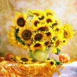 Оригинал 30x305DАлмазныеукрашения Цветы Colorful Подсолнечная роспись DIY Кристалл Скриншот Картины 3D Вышивка крестом Набор Мозаичный кру