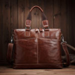 Оригинал Vintage Genuine Leather Laptop Bag Shoulder Bag For Men