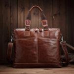 Оригинал Vintage Genuine Leather Laptop Bag Shoulder Bag For Men