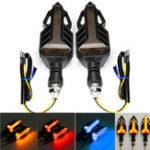 Оригинал 12V мотоцикл LED Последовательная подача проточной воды Лампа Огни указателей поворота