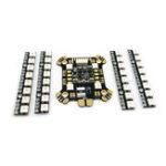 Оригинал FLYWOO Power Hub-LED REV1 PDB Встроенный 5V 9V 2A BEC WS2812 LED & 4 PCS 8-битный светодиод для платы RC Дрон