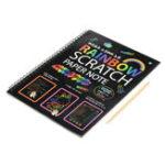 Оригинал 10 ШТ. Забавный Царапинам Записная книжка DIY Рисунок Игрушки Большой Удар Дети Бумаги Искусство Развивающие Игрушки