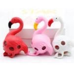 Оригинал Flamingos Rainbow Squeeze Ball Игрушка для снятия стресса Смешные игрушки из бисера Случайный цвет