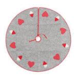 Оригинал 100 см Рождество Санта-Елка Юбки Xmas Орнамент Розовый Сердце Коврик Партии Украшения