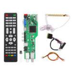 Оригинал 5 OSD Game RR52C.04A Поддержка цифрового сигнала DVB-S2 DVB-C DVB-T2 / T ATV Универсальный LCD Плата с драйверами Dual USB Play Media 30Pin 6 Bit With Дистанционный Набор