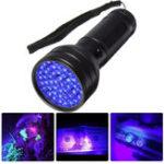 Оригинал 51 LED UV Детектор скорпионов Hunter Finder Ультрафиолетовый фонарик с черным фонарём