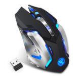 Оригинал HXSJ M10 Беспроводные игры 2,4 ГГц Мышь Эргономичные цвета Подсветка игр Мышь 2400 точек / дюйм Мыши