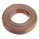 Оригинал 5M 1.27mm Pitch Ribbon Cable 14P Flat Color Rainbow Ribbon Cable Провод Радужный кабель