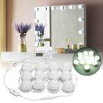 Оригинал AC100-240V 24W 12PC Голливудский стиль LED Туалетный столик Макияж Туалетный столик Зеркальный свет Набор + UK Plug