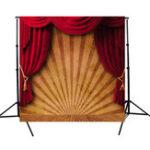 Оригинал 10x10FT Цирк Красный Занавес Сценическая Фотография Фон Студия Опора Фон