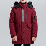 Оригинал Мужскаязимняясерединадлинногохлопкаватник толстая теплая куртка Parka