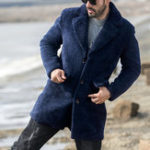 Оригинал Мужская зимняя толстая теплая куртка из искусственной овечьей шерсти