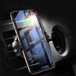 Оригинал HOCOСмартИнфракрасныйДатчикАвтоЗамок 10 Вт 7,5 Вт 5 Вт Qi Беспроводная зарядка Авто Держатель телефона для iPhone XS