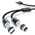 Оригинал RAXFLY 2 в 1 Type C Micro USB 2.1A Магнитный кабель для быстрой зарядки Кабель для передачи данных 1 м Для планшета Смартфон