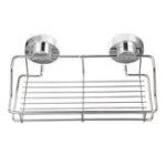 Оригинал Нержавеющая сталь Душевая кабина для хранения всасывающих колпачков Caddy Shelf настенная Ванная комната Кухонная стойка для хранения