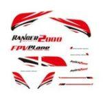 Оригинал Наклейки на запасные части для самолета Wingspan RC Volantex Ranger 2000 V757-8 2000 мм