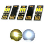 Оригинал 5шт.USBMiniNightLight Portable 3 LED Сенсорная бесступенчатая регулировка яркости / с подсветкой Night Card / General Emergency Light Фонарик