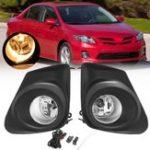 Оригинал Авто Противотуманные фары переднего бампера Лампа с выключателем лампочки H11 Набор Пара для Toyota Corolla 11-13