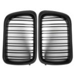 Оригинал Пара Матовый Черный ABS Передняя решетка для почек Для BMW E36 1997-1999