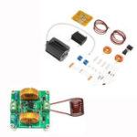 Оригинал DIY Mini ZVS Тесла Высоковольтная катушка генератора Набор Высокочастотная индукционная нагревательная плита