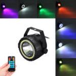 Оригинал AC90-240V 15W RGB Белый COB LED Stage Light Дистанционное Управление Звук-активированный Par Лампа для Рождества
