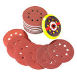 Оригинал 60pcs 60-320 Grit Sanding Disc Sandpaper with Backing Pad for Rotary Tool