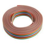 Оригинал 5шт 5M 1.27mm Pitch Ленточный кабель 16P Плоский цвет Радужный ленточный кабель Провод Радужный кабель