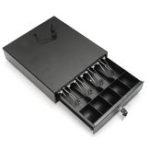 Оригинал Сверхмощный денежный ящик Коробка Деньги Коробка POS регистр Ключ RJ-11 Замок с 4 лотками для монет 5 Билла