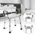 Оригинал РегулируемыйМедицинскаядушскладнойстулванна скамейка сиденье для ванны стул помощи подлокотник назад
