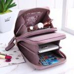 Оригинал pierre loues Women Solid Card Bag Phone Bag Crossbody Bag